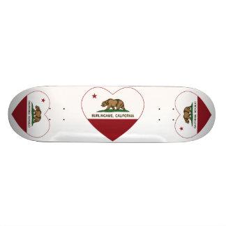 Kalifornien-Flagge burlingame Herz 21,6 Cm Skateboard Deck