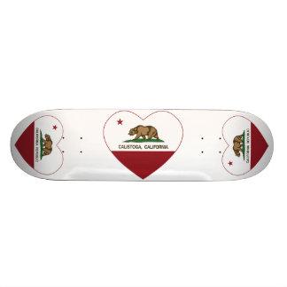 Kalifornien-Flagge calistoga Herz Skateboard Brett