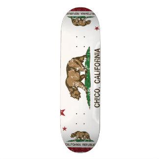 Kalifornien-Flagge Chico beunruhigt Skate Board