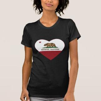 Kalifornien-Flagge encinitas Herz T-Shirt