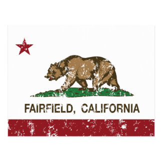 Kalifornien-Flagge Fairfield beunruhigt Postkarte
