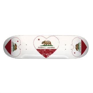 Kalifornien-Flagge foresthill Herz beunruhigt Skateboard Brett