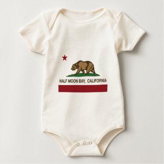 Kalifornien-Flagge Half Moon Bay Baby Strampler