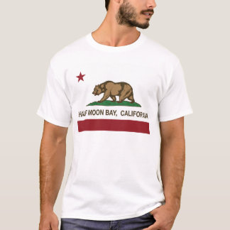 Kalifornien-Flagge Half Moon Bay T-Shirt