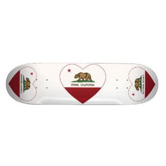 Kalifornien-Flagge Irvine-Herz Personalisiertes Skatedeck