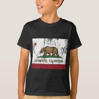Kalifornien-Flagge kenwood beunruhigt T-Shirt