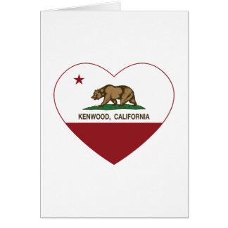 Kalifornien-Flagge kenwood Herz Karte