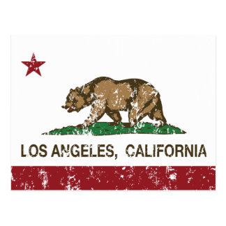 Kalifornien-Flagge Los Angeles beunruhigt Postkarten