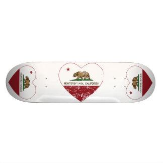 Kalifornien-Flagge Monterey-Parkherz beunruhigt Skate Board