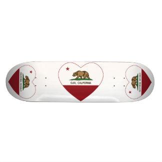 Kalifornien-Flagge ojai Herz Bedrucktes Skateboard