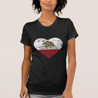 Kalifornien-Flagge petaluma Herz beunruhigt T-Shirt
