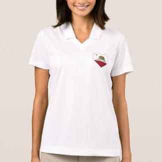 Kalifornien-Flagge petaluma Herz Polo Shirt