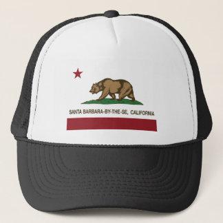 Kalifornien-Flagge Santa Barbara durch das Meer Truckerkappe