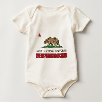 Kalifornien-Flagge Santa Fe Springs Baby Strampler