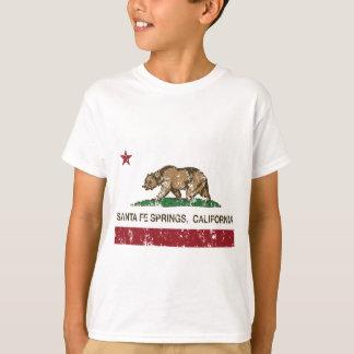 Kalifornien-Flagge Santa Fe Springs T-Shirt