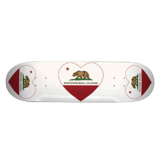 Kalifornien-Flagge silverstrand Strandherz 20,6 Cm Skateboard Deck