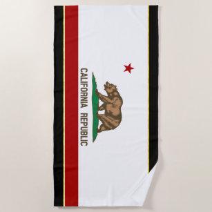 Kalifornien-Flagge Strandtuch