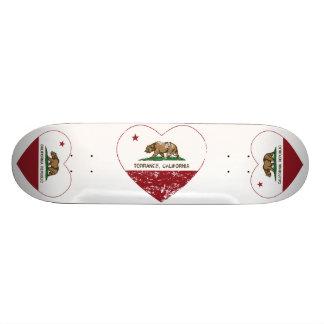 Kalifornien-Flagge Torrance-Herz beunruhigt 20,6 Cm Skateboard Deck