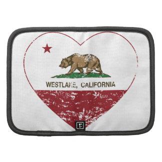 Kalifornien-Flagge westlake Herz beunruhigt Planer