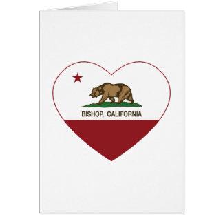Kalifornien-Flaggen-Bischof Grußkarte