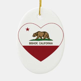 Kalifornien-Flaggen-Bischof Ovales Keramik Ornament