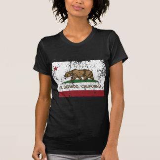 Kalifornien-Flaggen-EL dorado beunruhigt T-Shirt