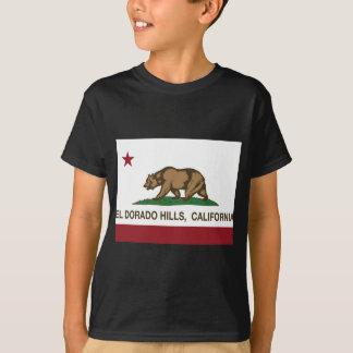 Kalifornien-Flaggen-EL dorado Hügel T-Shirt