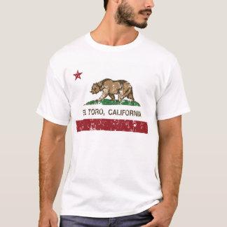 Kalifornien-Flaggen-EL Toro beunruhigt T-Shirt