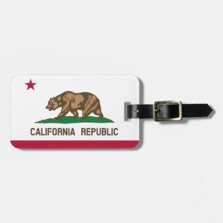 Kalifornien-Flaggen-Gepäckanhänger Kofferanhänger