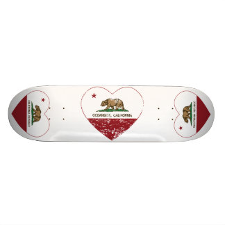 Kalifornien-Flaggen-Ozeanuferherz beunruhigt Personalisierte Skateboards