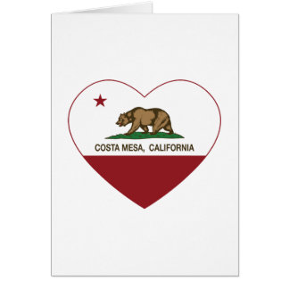 Kalifornien-Flaggencosta- mesaherz Karte