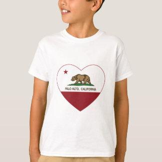 Kalifornien-Flaggenpalo alto Herz T-Shirt