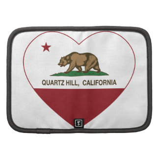 Kalifornien-Flaggenquarz-Hügelherz Mappen