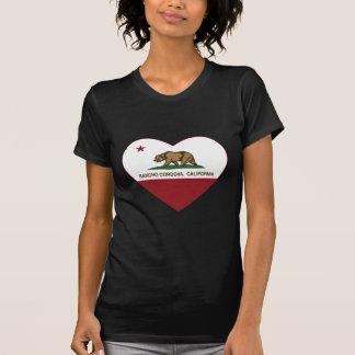 Kalifornien-Flaggenranch cordova Herz T-Shirt
