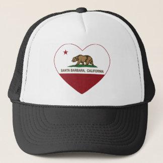Kalifornien-Flaggensanta- barbaraherz Truckerkappe