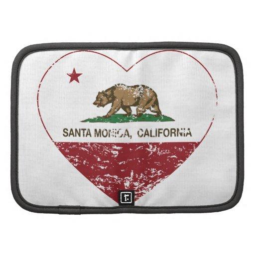 Kalifornien-Flaggensanta monica Herz beunruhigt Planer