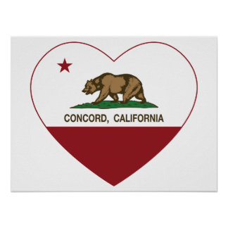 Kalifornien-Flaggenübereinstimmungsherz Poster