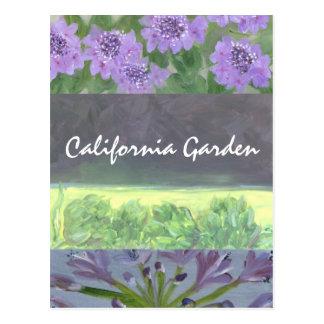 Kalifornien-Garten Postkarte