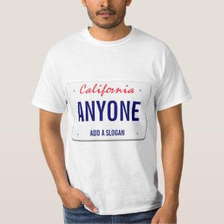 Kalifornien-Gewohnheits-Kfz-Kennzeichen T-Shirt
