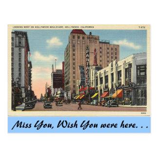 Kalifornien, Hollywood Boulevard Postkarte