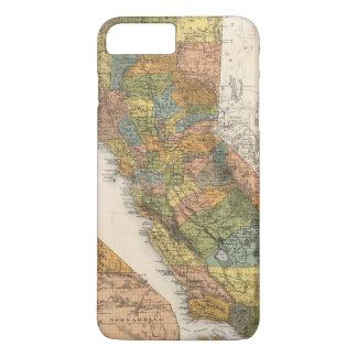 Kalifornien-Karte, die Gemeinden und Eisenbahnen iPhone 8 Plus/7 Plus Hülle
