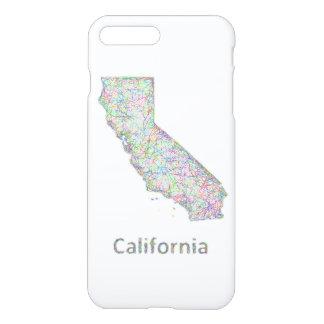 Kalifornien-Karte iPhone 8 Plus/7 Plus Hülle