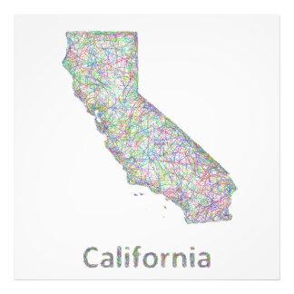 Kalifornien-Karte Photo
