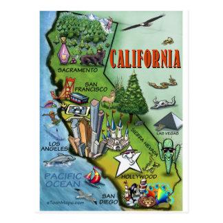 Kalifornien-Karte Postkarte