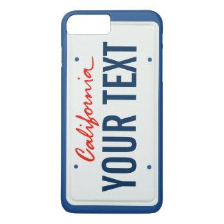 Kalifornien-Kfz-Kennzeichen-Handyfall iPhone 8 Plus/7 Plus Hülle