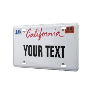 Kalifornien-Kfz-Kennzeichen US Nummernschild
