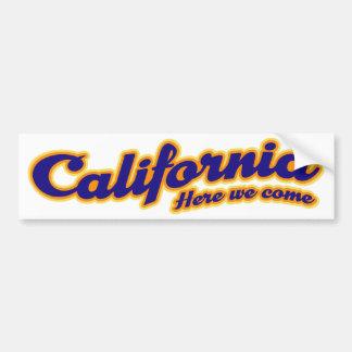 Kalifornien - kommen wir her autoaufkleber