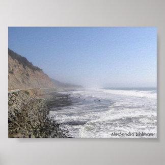 Kalifornien-Küste Poster