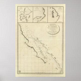 Kalifornien-Küsten Poster