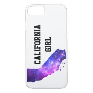 Kalifornien-Mädchen-Galaxie iPhone 8/7 Hülle